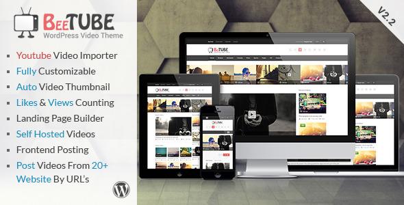Wordpress Theme BeeTube