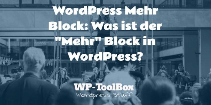 Mehr Block in WordPress