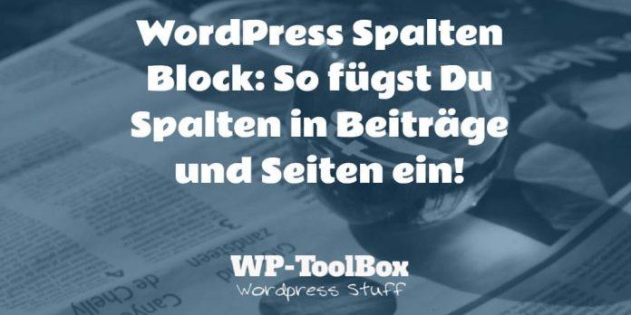Spalten in WordPress