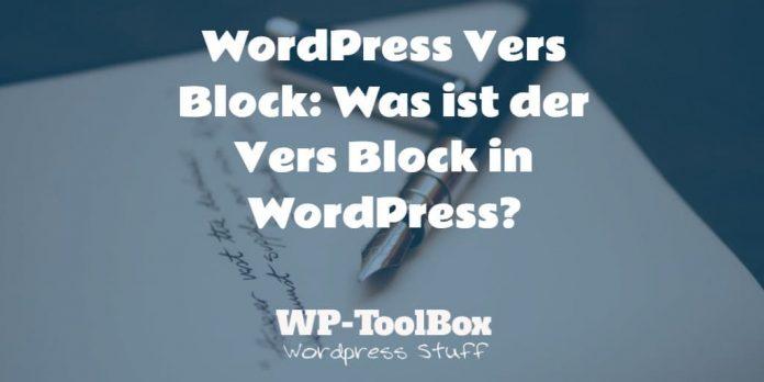 Vers Block WordPress